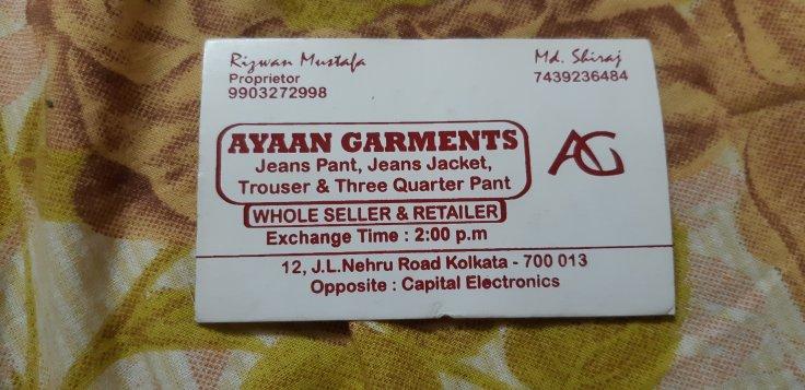 IMAGE - Ayaan Garments - Chowringhee Market
