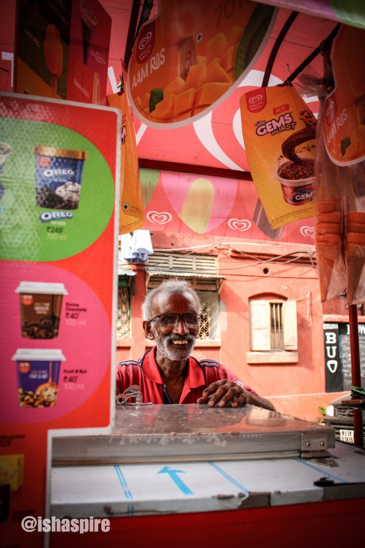 Ice cream seller at Kolkata. Kwality Walls