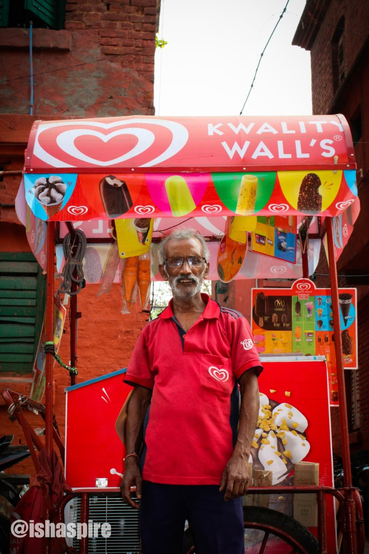 Ice cream seller at Kolkata's Bow Barracks