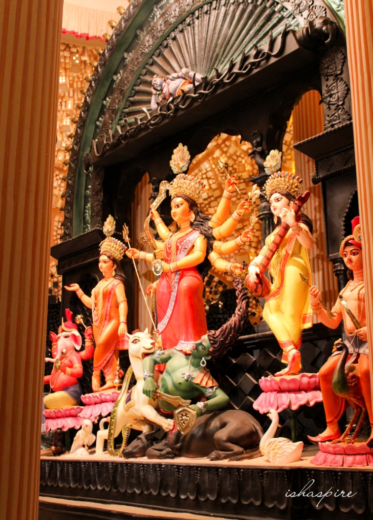 Chalcitra - Durga Maa's idol at Chetla Agrani, Kolkata
