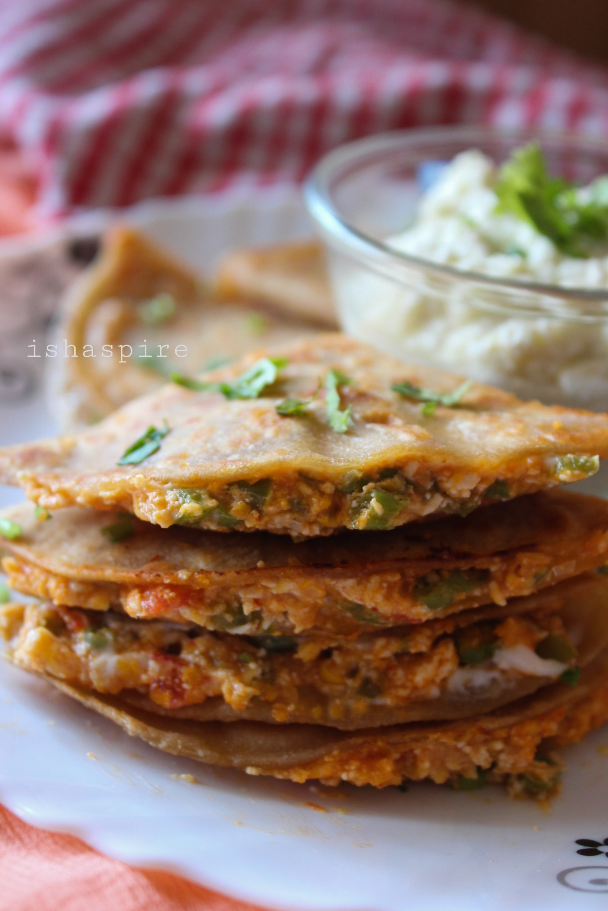 Jain Quesadillas (no onion, no garlic)