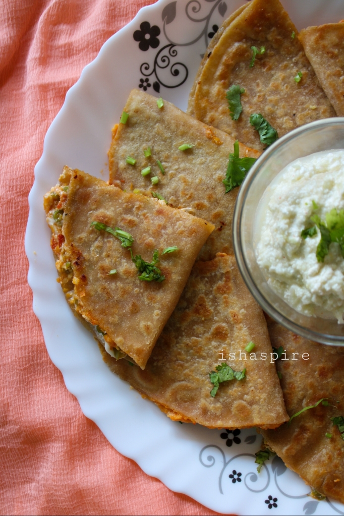 Quesadillas with Tzatziki Dip